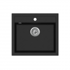 Chiuveta de bucatarie Aquasanita Quadro SQQ100-601AW - negru metalic