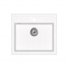 Chiuveta de bucatarie Aquasanita Quadro SQQ100-710AW - alb